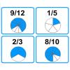 Empareja fracciones equivalentes II