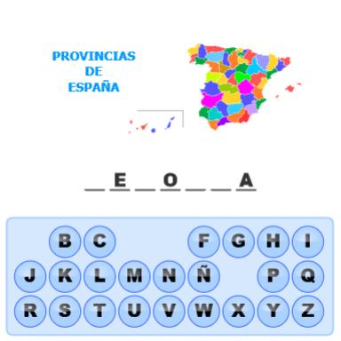 Palabra Secreta - Provincias de España